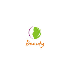 woman face beauty abstract logo vector image
