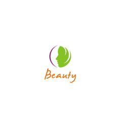 Woman face beauty abstract logo vector