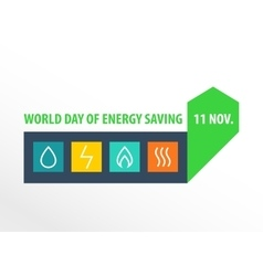 World day of energy saving vector