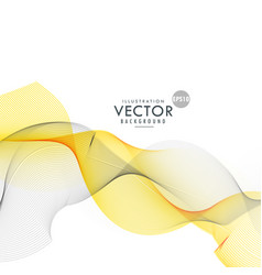 yellow and gray wave background vector image