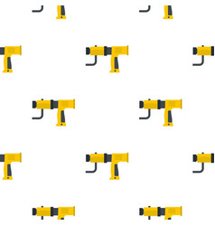 yellow hand drill pattern flat vector image