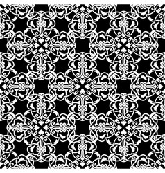 Seamless black and white pattern in arabic or vector image