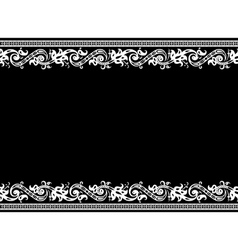 vector damask frame vector image vector image