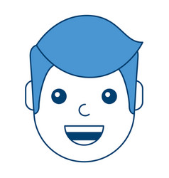 character man face laughing happy image vector image vector image