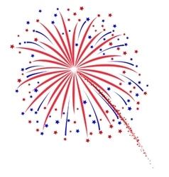 Firework design on white background vector image