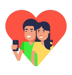 Selfie Couple 2 vector image vector image