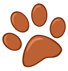Brown Paw Print vector image vector image