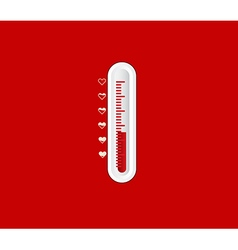 Love Degree Scale Valentine Background vector image vector image