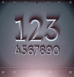 Metal Embossed Numbers vector image vector image