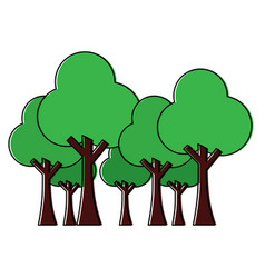 trees forest park natural botanical ecology vector image vector image