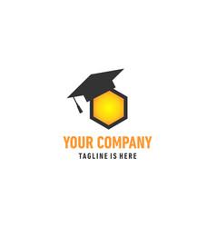 bee education logo vector image vector image