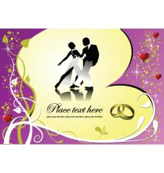 dance and heart vector image vector image