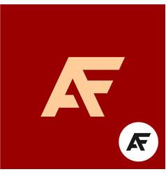 letter a and f logo af ligature symbol vector image vector image