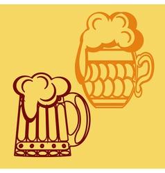 monochrome icon set with mug beer vector image vector image