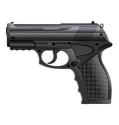 powerful pistol gun handgun vector image