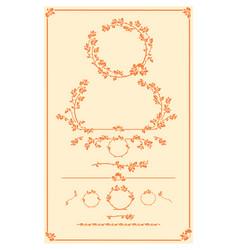 set of decorative autumn floral elements vector image