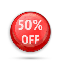 50 percent off sign or symbol vector image