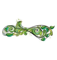 A creative green border vector image