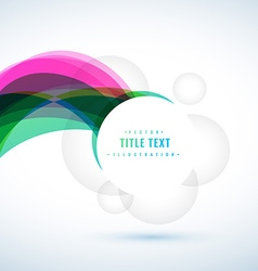 Abstract background with text frame vector