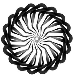 Abstract spirally twirly shape isolated on white vector