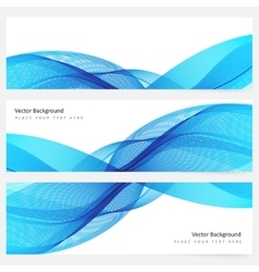 Abstract template horizontal banner vector image
