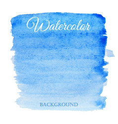 abstract watercolor blue hand drawn background vector image