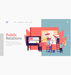 Advertising placement landing page template tiny vector