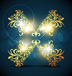 Artistic floral design vector