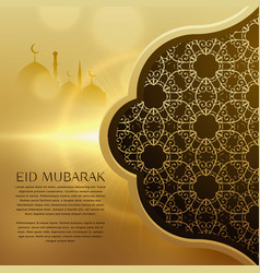 awesome eid festival background with islamic vector image vector image