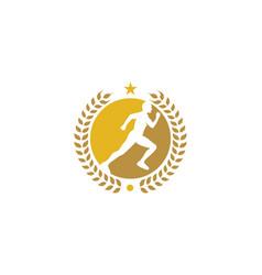 beer run logo icon design vector image