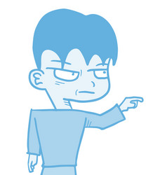 Blue kid vector