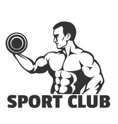Bodybuilding or Gym emblem vector