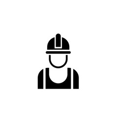 builder in helmet flat icon vector image