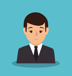 Businessman character avatar icon vector