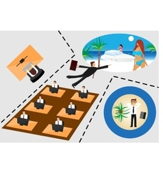 Businessman flying to rest vector