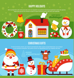 christmas holidays and gifts banners vector image