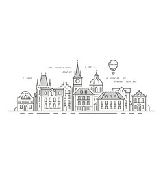 cityscape with historic buildings town city vector image