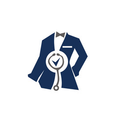 clothing for doctor tailor service vector image