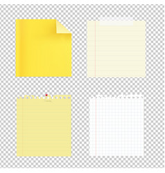 collection note papers vector image