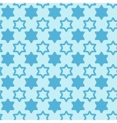 David star seamless pattern background vector image