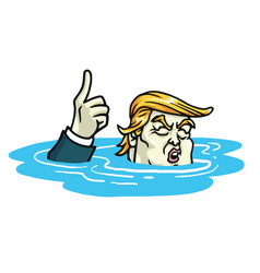 donald trump climate change agreement cartoon vector image