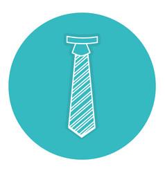 Elegant tie isolated icon vector