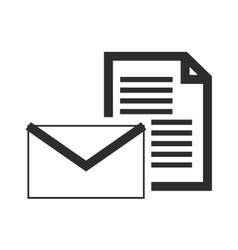 envelope with paper document icon vector image