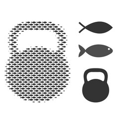 fish halftone weight mosaic vector image