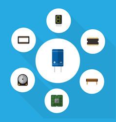 Flat icon appliance set of display bobbin unit vector