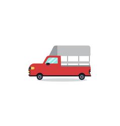 Flat thai mini red truck cartoon design minimal vector