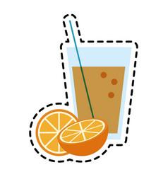 Glass of orange juice icon image vector