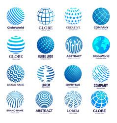 globe symbols circle forms world round shapes vector image