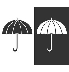 Gray umbrella icon sign of protection and safety vector