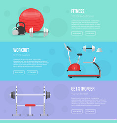 gym and fitness center flyers sport background vector image